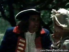 Гренадер в лесу балуется с молоденькой служанкой.